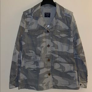 Abercrombie Army Twill Shirt Jacket